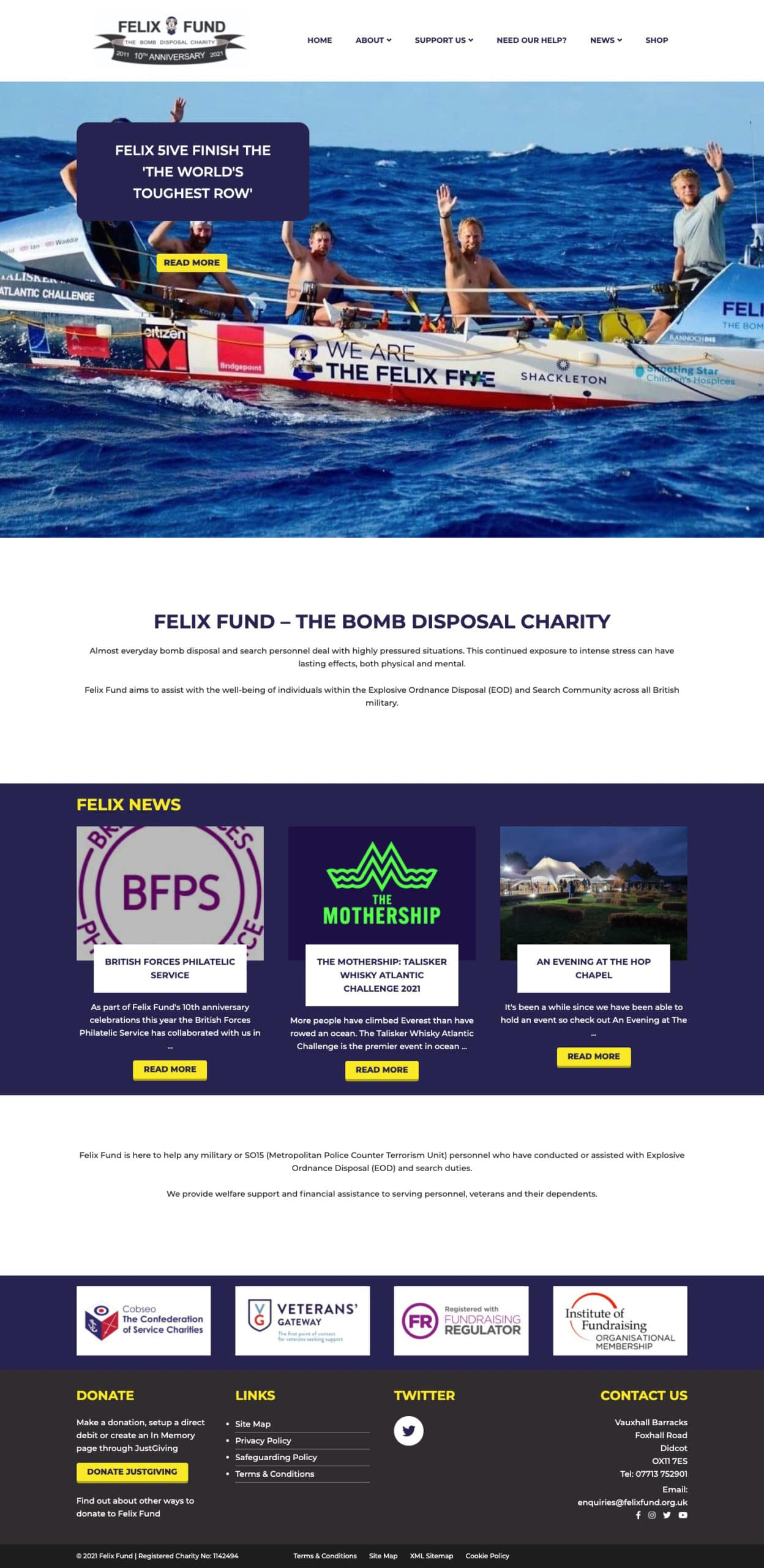 Small Charity Website Design